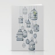 Stationery Cards featuring Last Bird In The Shop by Jewelwing