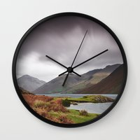 Rain Clouds Over Scafell… Wall Clock