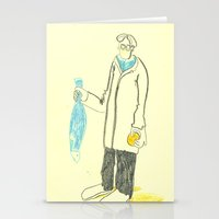 Pez y naranja Stationery Cards