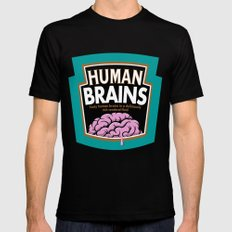 Human Brains Mens Fitted Tee SMALL Black