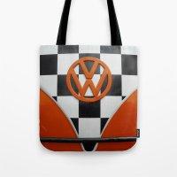 VW Checkers Tote Bag
