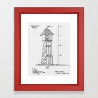 Rampion's (Rapunzel's) Tower Framed Art Print