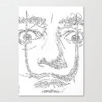 Salvador Dalì WordsPortrait Canvas Print