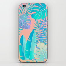 Tropics ( monstera and banana leaf pattern ) iPhone & iPod Skin
