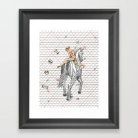 Fear's Lurking Around Th… Framed Art Print