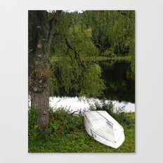 At the pond Canvas Print