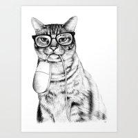 Mac Cat Art Print