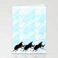 3 Scarabs Blue Stationery Cards