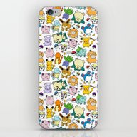 Cute Pokémon Doodle  iPhone & iPod Skin
