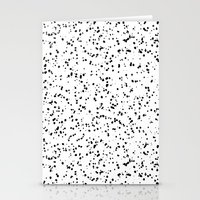 Speckles I: Double Black… Stationery Cards