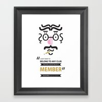 Type Faces No.1 Groucho … Framed Art Print