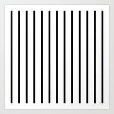 Vertical Lines (Black/White) Art Print