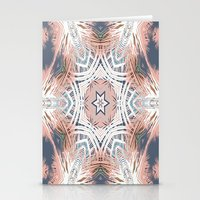 Tribe Coral and Steel Stationery Cards