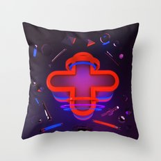 Rouge et Bleu Throw Pillow