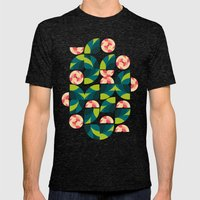 Wild Roses Mens Fitted Tee Tri-Black SMALL