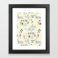 'Den lilla Staden' Framed Art Print