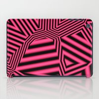 Black And Pink Abstract iPad Case