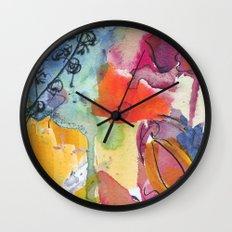 Abstract floral watercolour Wall Clock