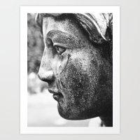 Angel's profile Art Print