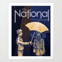 The National band poster (Sad) Art Print