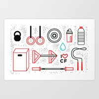 CrossFit Love Art Print