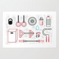 CrossFit Love Art Print