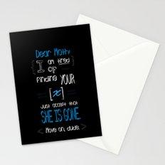 Dear Math (blue)  Stationery Cards