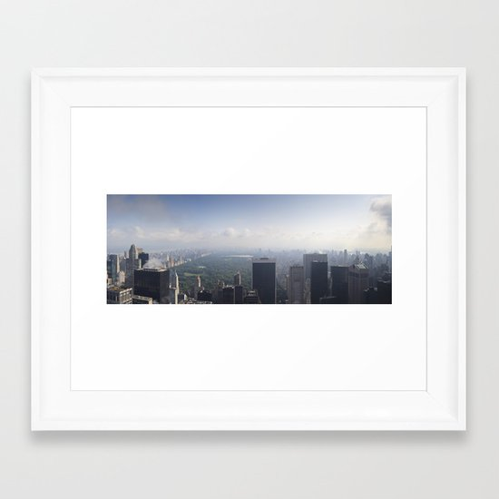 Central Park Panorama Framed Art Print