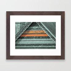 ROOF PATTERNS Framed Art Print