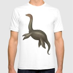 Loch Ness Monster Mens Fitted Tee White SMALL