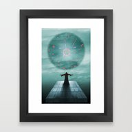 Framed Art Print featuring Nordic Magician by Tony Vazquez