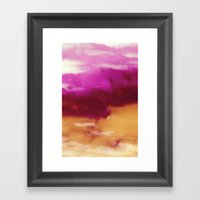 Cherry Rose Painted Clouds Framed Art Print