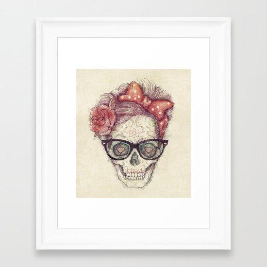 Hipster Girl is Dead Framed Art Print
