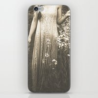 Flower Child 2 Black And… iPhone & iPod Skin