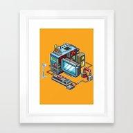 8bit Computer Framed Art Print