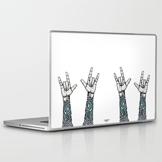 Double Rock Sleeve Laptop & iPad Skin