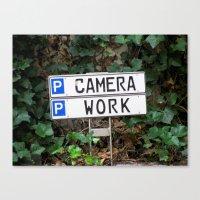 Camera work Canvas Print