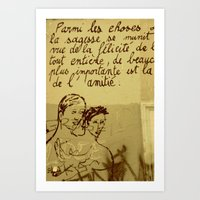 French Graffiti in Paris Art Print