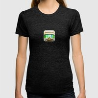 Hoth Rebel Trooper Womens Fitted Tee Tri-Black SMALL