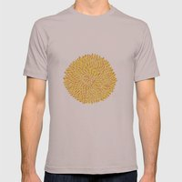 Yellow Chrysanthemum  Mens Fitted Tee Cinder SMALL