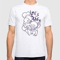 Let's Dance Mens Fitted Tee Ash Grey SMALL