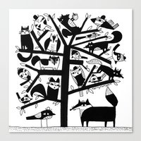 ANIMAL TREE Canvas Print