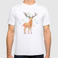 Deer and Diamonds Mens Fitted Tee Ash Grey SMALL