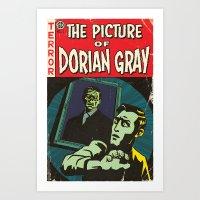 Oscar Wilde's Dorian Gray: Vintage Comic Cover Art Print