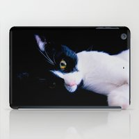 Black White Cat iPad Case
