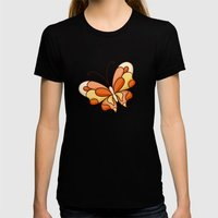 Tropical summer Womens Fitted Tee Black SMALL