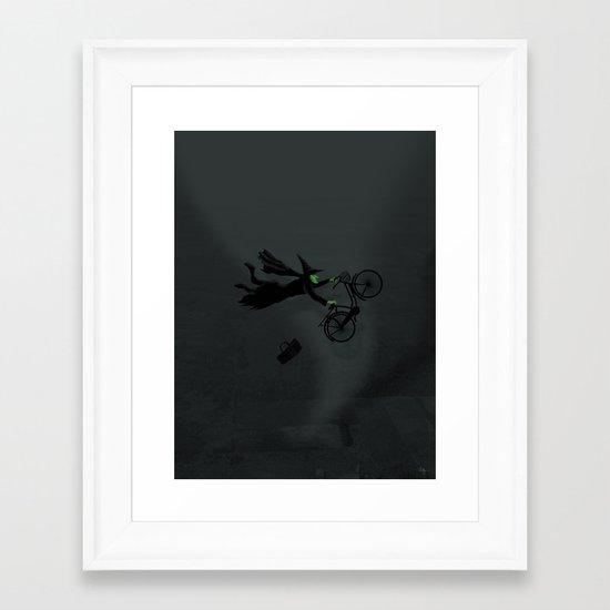Wicked Bike Trick Framed Art Print