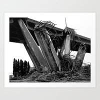 Art Print featuring Tetrapod destruction by Vorona Photography