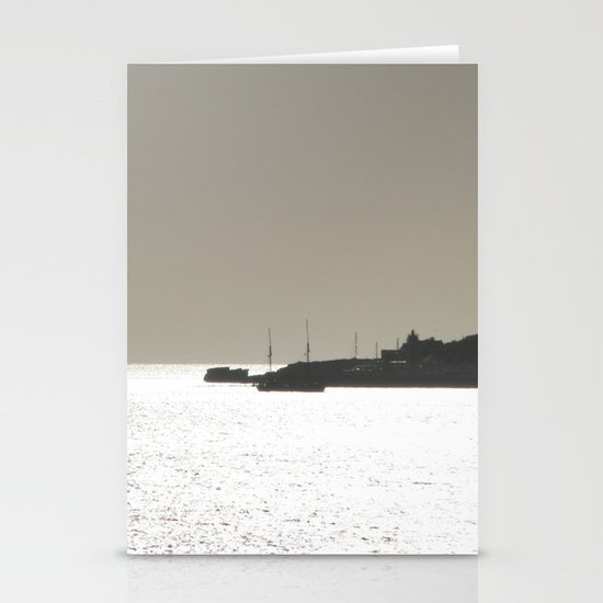 Silver harbor Stationery Card