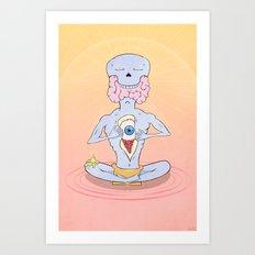 Grey Matter Leak Art Print